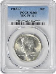 1968-D Kennedy Half Dollar TDO FS-101 MS64 PCGS