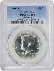 1968-S Kennedy Half Dollar DDO FS-101 PR67 PCGS