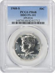 1968-S Kennedy Half Dollar DDO FS-101 PR68 PCGS