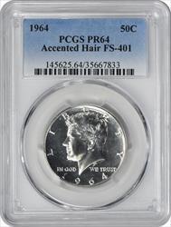 1964 Kennedy Half Dollar Accented Hair FS-401 PR64 PCGS
