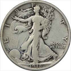 1918-P Walking Liberty Half Dollar F Uncertified