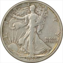 1917-S Walking Liberty Half Dollar Reverse VF Uncertified