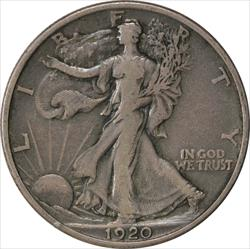 1920-P Walking Liberty Half Dollar VF Uncertified