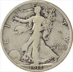 1918-D Walking Liberty Half Dollar F Uncertified