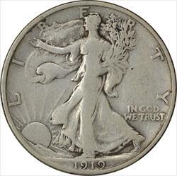 1919-S Walking Liberty Half Dollar Choice F Uncertified