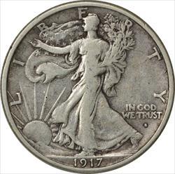 1917-S Walking Liberty Half Dollar Obverse VF Uncertified