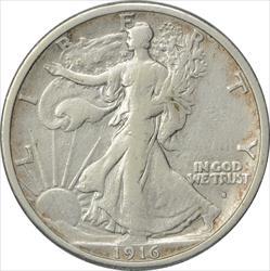 1916-S Walking Liberty Half Dollar VF Uncertified