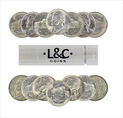 1942-S BU Nickel Roll Silver