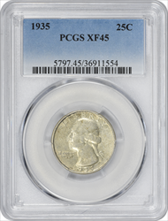 1935-P Washington Silver Quarter EF45 PCGS