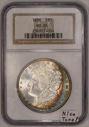 1886 Morgan Dollar NGC MS-65; Nice Tone!