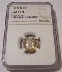 1952 D Roosevelt Dime MS67 FT NGC
