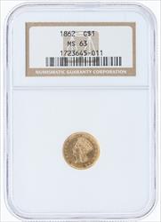 1862- G$1 LIBERTY HEAD
