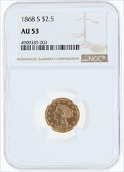 1868- $2.5 LIBERTY HEAD