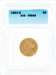 1882- $5 LIBERTY HEAD