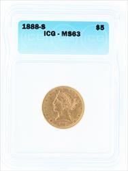 1888- $5 LIBERTY HEAD