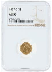 1857- G$1 SMALL INDIAN PRINCESS HEAD