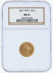 1861- $2.5 LIBERTY HEAD