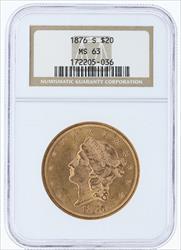 1876- $20 LIBERTY HEAD