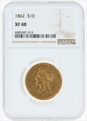 1862- $10 LIBERTY HEAD