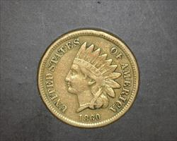 1860 ROUNDED BUST  INDIAN CENT