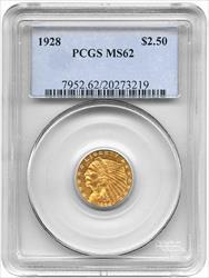 1928- $2.50 INDIAN HEAD