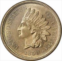 1859 Indian Cent Choice BU Uncertified