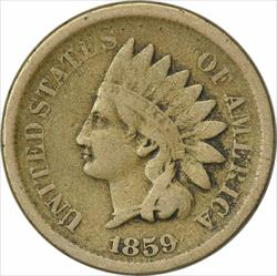 1859 Indian Cent, VG, Uncertified