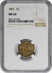 1861 Indian Cent, , NGC