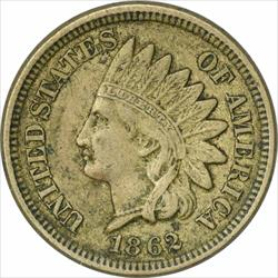 1862 Indian Cent, EF, Uncertified
