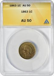 1863 Indian Cent  ANACS