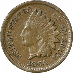 1864 Indian Cent, Bronze, EF, Uncertified