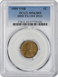 1909 VDB Lincoln Cent DDO FS-1101 BN PCGS