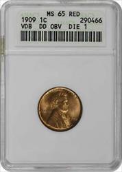 1909 VDB Lincoln Cent, DDO FS-1101, RD, ANACS