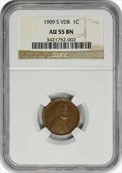 1909-S VDB Lincoln Cent BN NGC