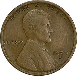 1909-S VDB Lincoln Cent, VF, Uncertified