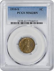 1910-S Lincoln Cent, BN, PCGS