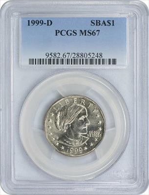 1999-D Susan B. Anthony SBA Dollar  PCGS
