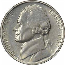 1938 Jefferson Nickel Choice Proof+ Uncertified