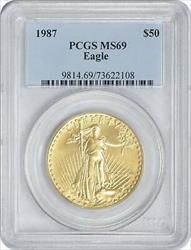 1987 $50 American  Eagle PCGS