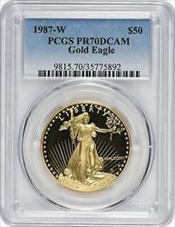 1987 W $50 American  Eagle DCAM PCGS
