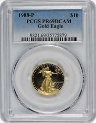 1988 P $10 American  Eagle DCAM PCGS