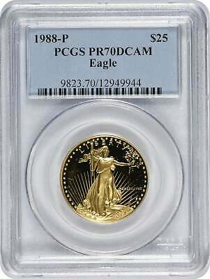 1988 P $25 American  Eagle DCAM PCGS