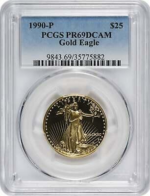 1990 P $25 American  Eagle DCAM PCGS