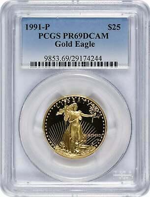 1991 P $25 American  Eagle DCAM PCGS