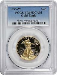 1995 W $25 American  Eagle DCAM PCGS