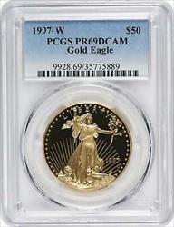 1997 W $50 American  Eagle DCAM PCGS