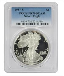 1987 S American  Eagle  DCAM PCGS Proof 70 Deep Cameo