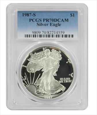 1987 S American  Eagle  DCAM PCGS Proof 70 Deep Cameo