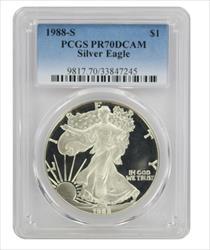 1988 S American  Eagle  DCAM PCGS Proof 70 Deep Cameo