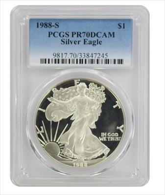 1988 S American  Eagle  DCAM PCGS Proof 70 Deep Cameo